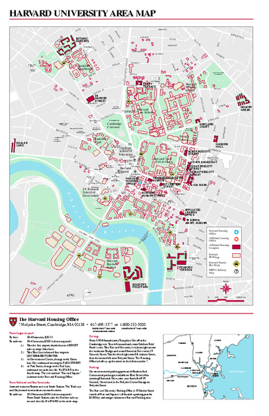 Fullsize Harvard University Campus Map