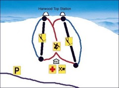 Harwood Sketch Ski Trail Map