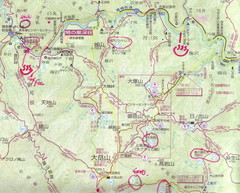 Hatonosu Hiking Map