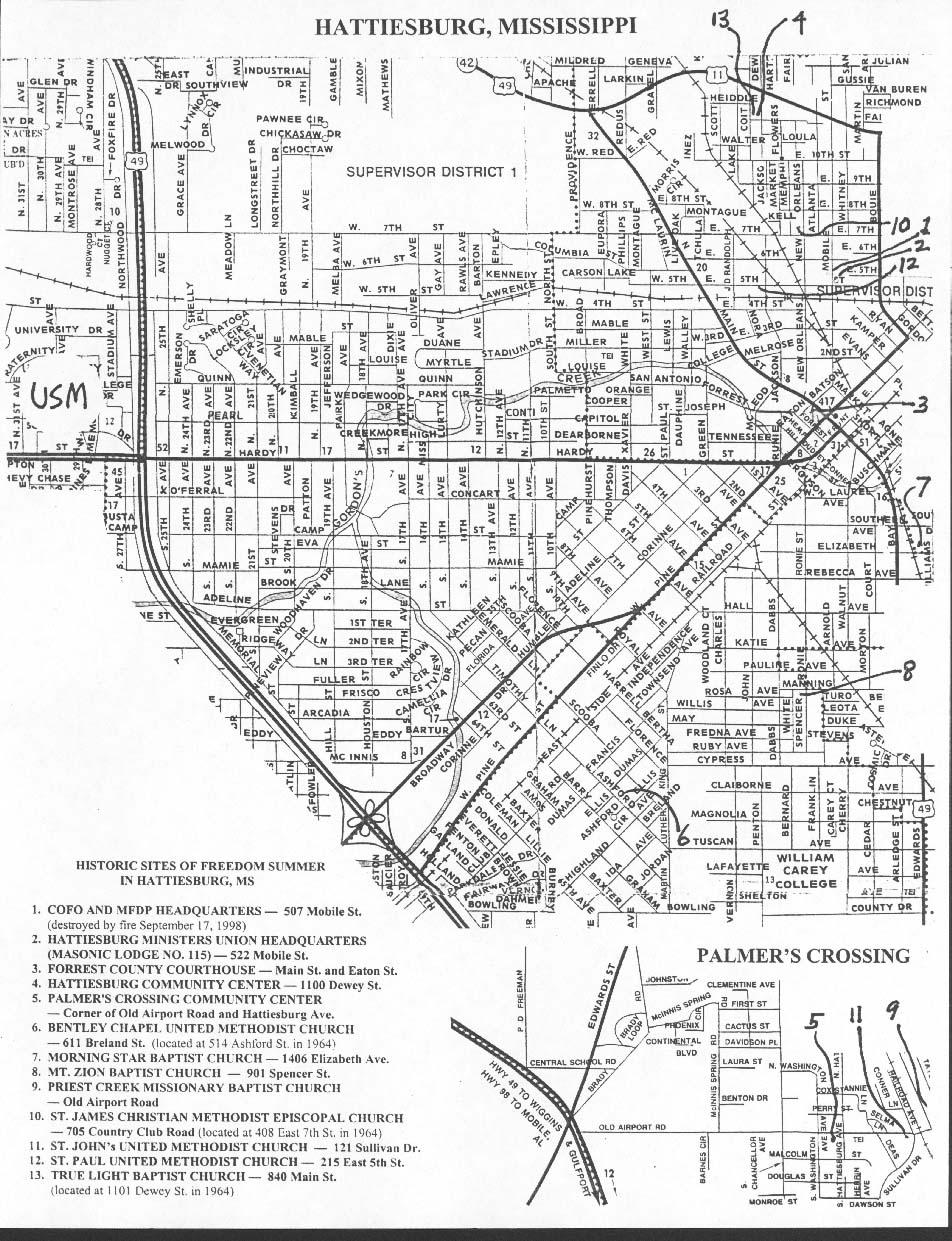 Hattiesburg Mississippi City Map - Hattiesburg Mississippi • mappery