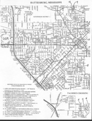 Hattiesburg, Mississippi City Map
