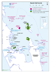 Hauraki Gulf Islands Nature Reserves Map