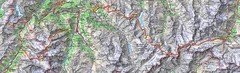 Haute Route Ski Tour Map - Verbier Variant