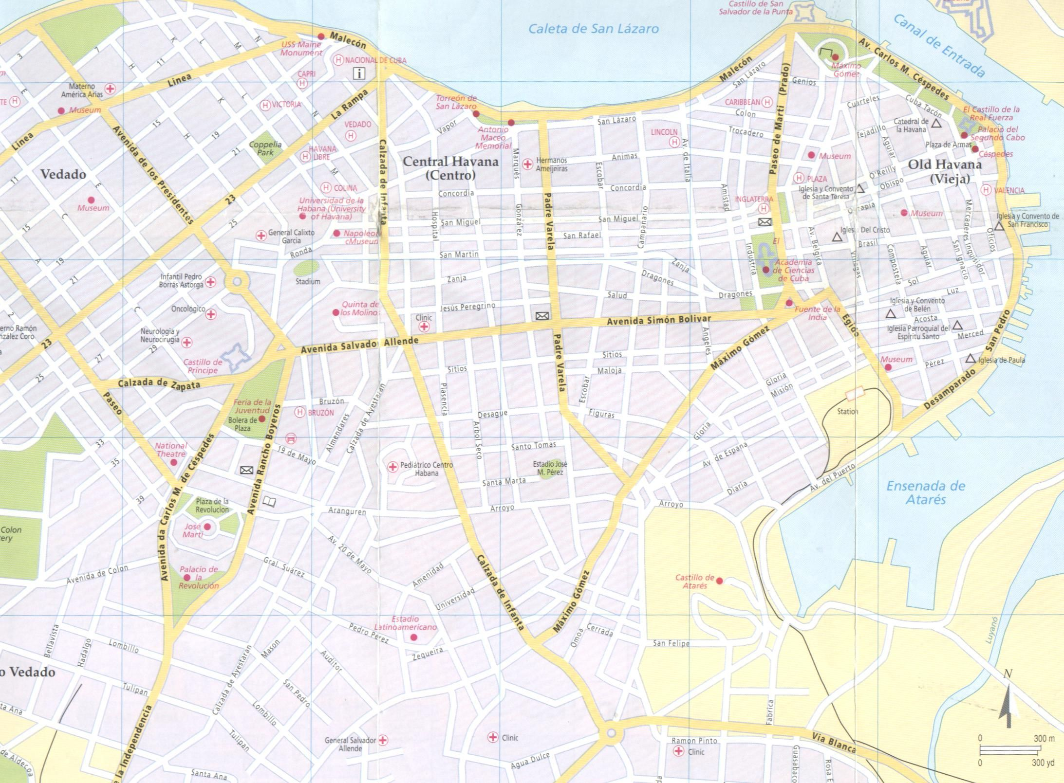 image regarding Printable Map of Havana named Map of Havana districts Metropolis Maps