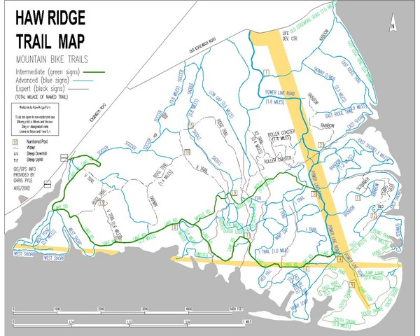 Haw Ridge Trail Map