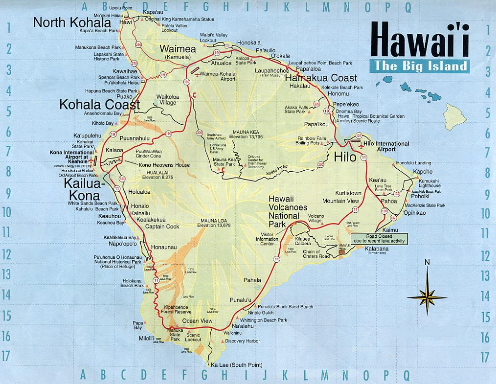 Hawaii Tourist Map Hawaii Mappery - Hawaii cities map