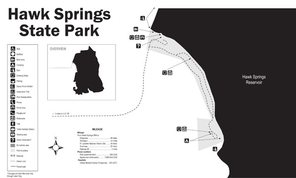 Hawk Springs State Park Map