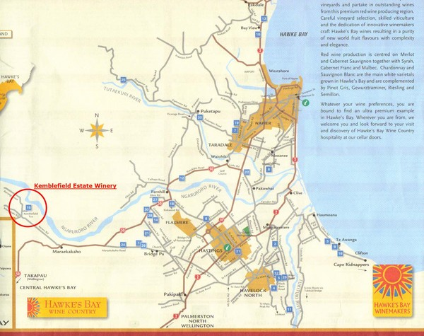 Hawkes Bay Wine Country Map