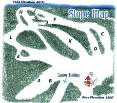 Hawksnest Golf & Ski Resort Ski Trail Map