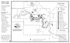 Hayes Lake State Park Winter Map