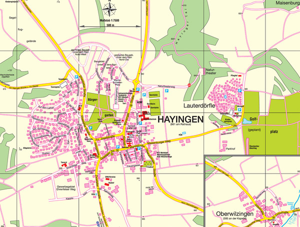Hayingen Map
