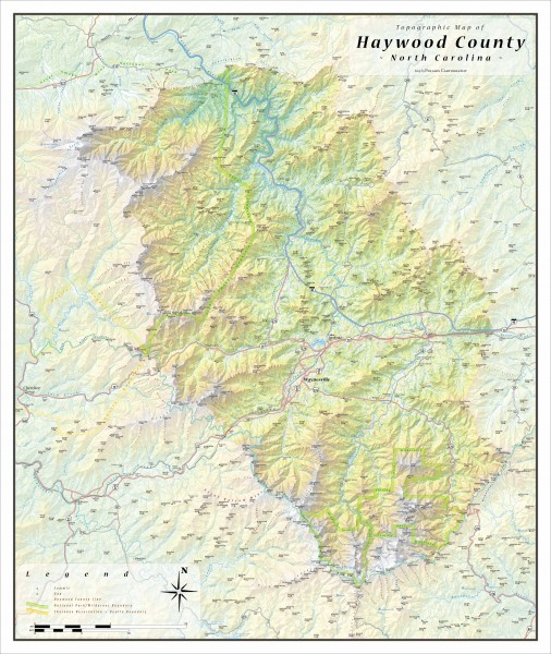 Haywood County Topographical Map Haywood North Carolina Mappery