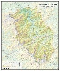 Haywood County Topographical Map