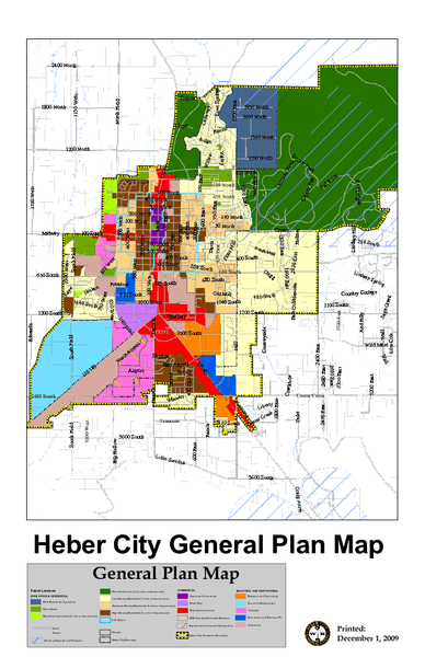 Heber City General Plan Map Heber City Utah Mappery
