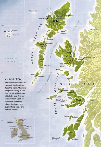 Hebrides Islands Map