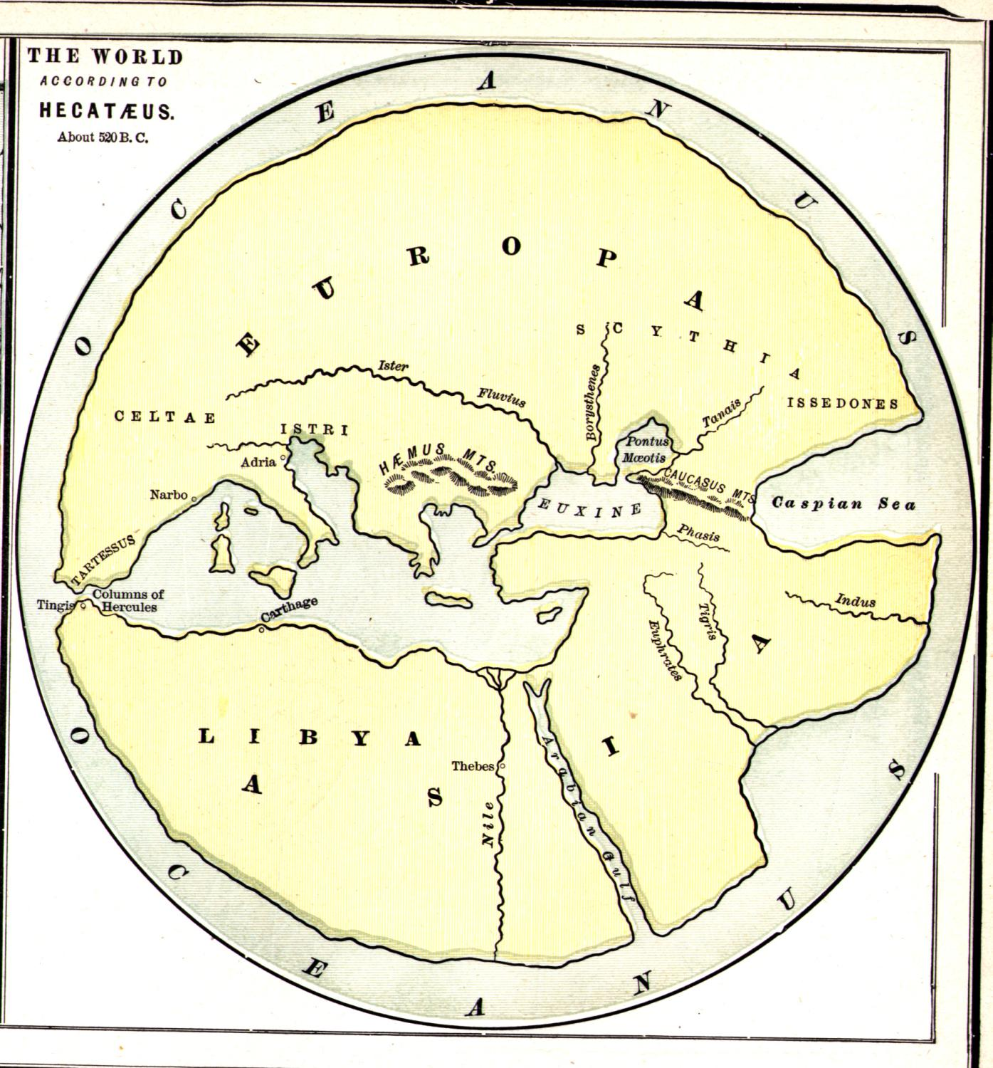 Hecataeus World Map World mappery