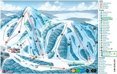 Heights of Horseshoe Ski Trail Map