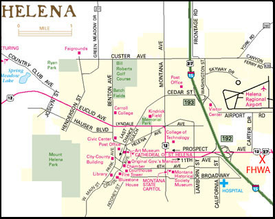 Helena Montana City Map Helena Montana Mappery - Montana cities map