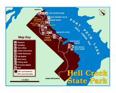 Hell Creek State Park Map