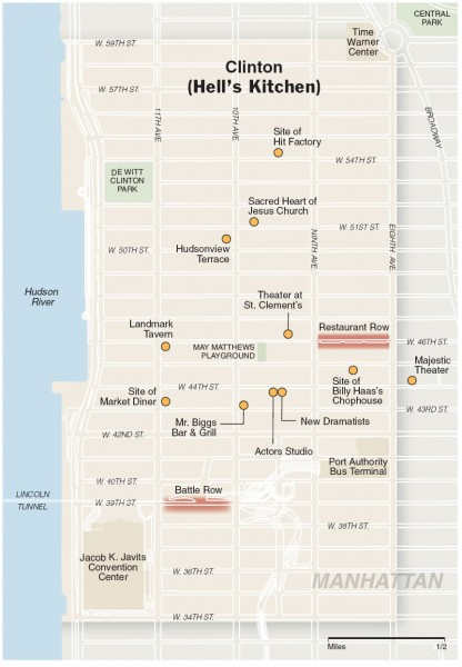 fullsize hells kitchen tourist map - Hells Kitchen Manhattan