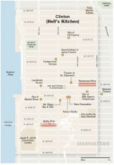 Hells Kitchen tourist map