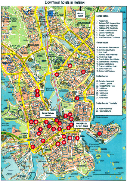 Helsinki Tourist Map - Helsinki Finland • mappery Finland Travel Maps