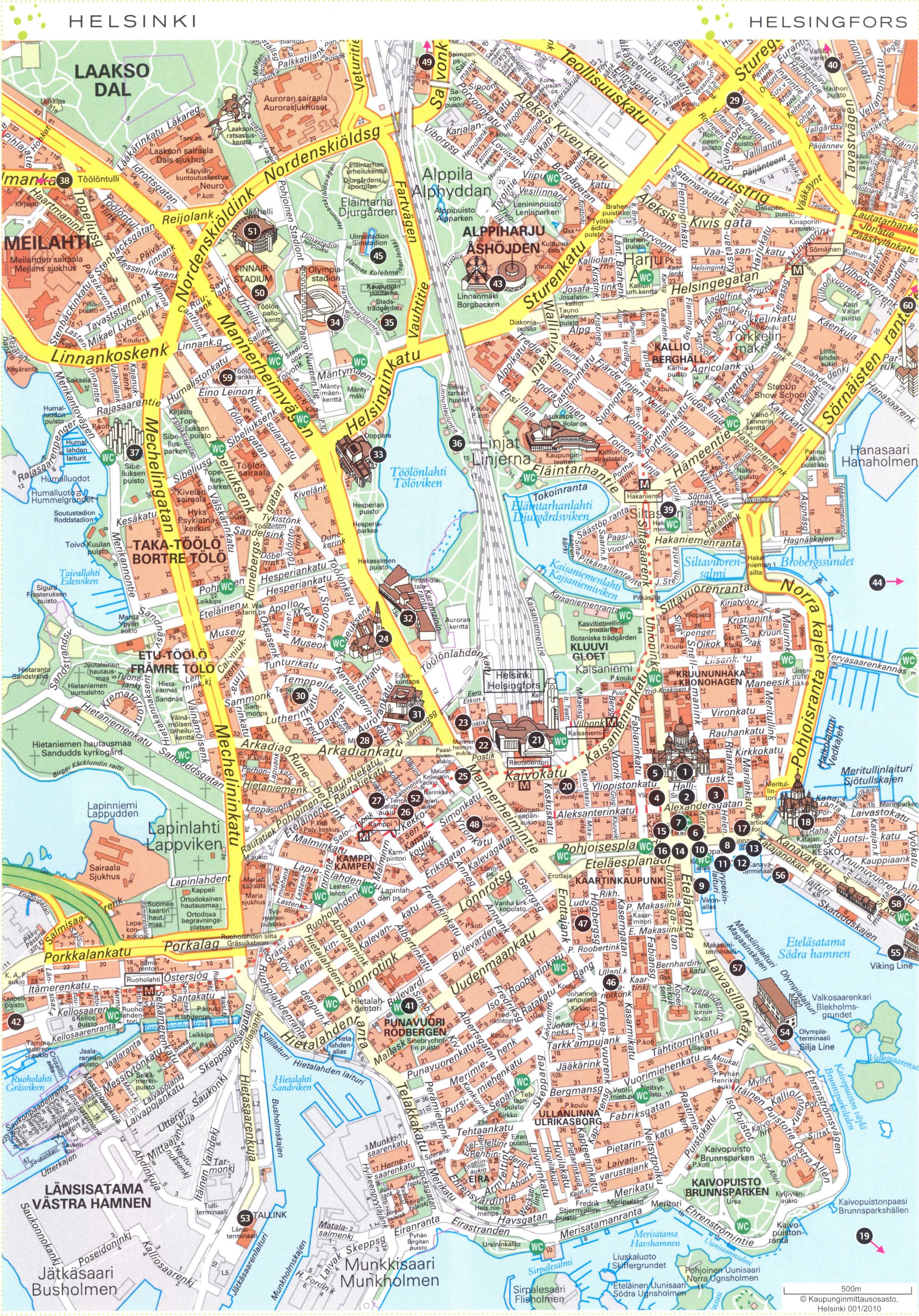 Helsinki center 1 Map Helsinki mappery