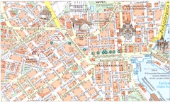 Helsinki downtown Map