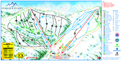 Hemlock Resort Ski Trail Map