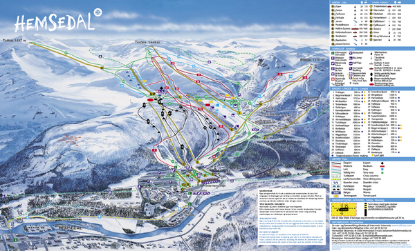 Hemsedal Ski Trail Map