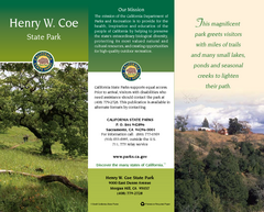 Henry W. Coe State Park Map