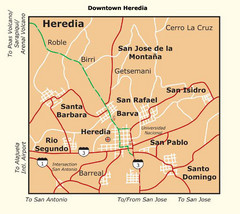 Heredia City Map