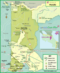 Heredia Tourist Map