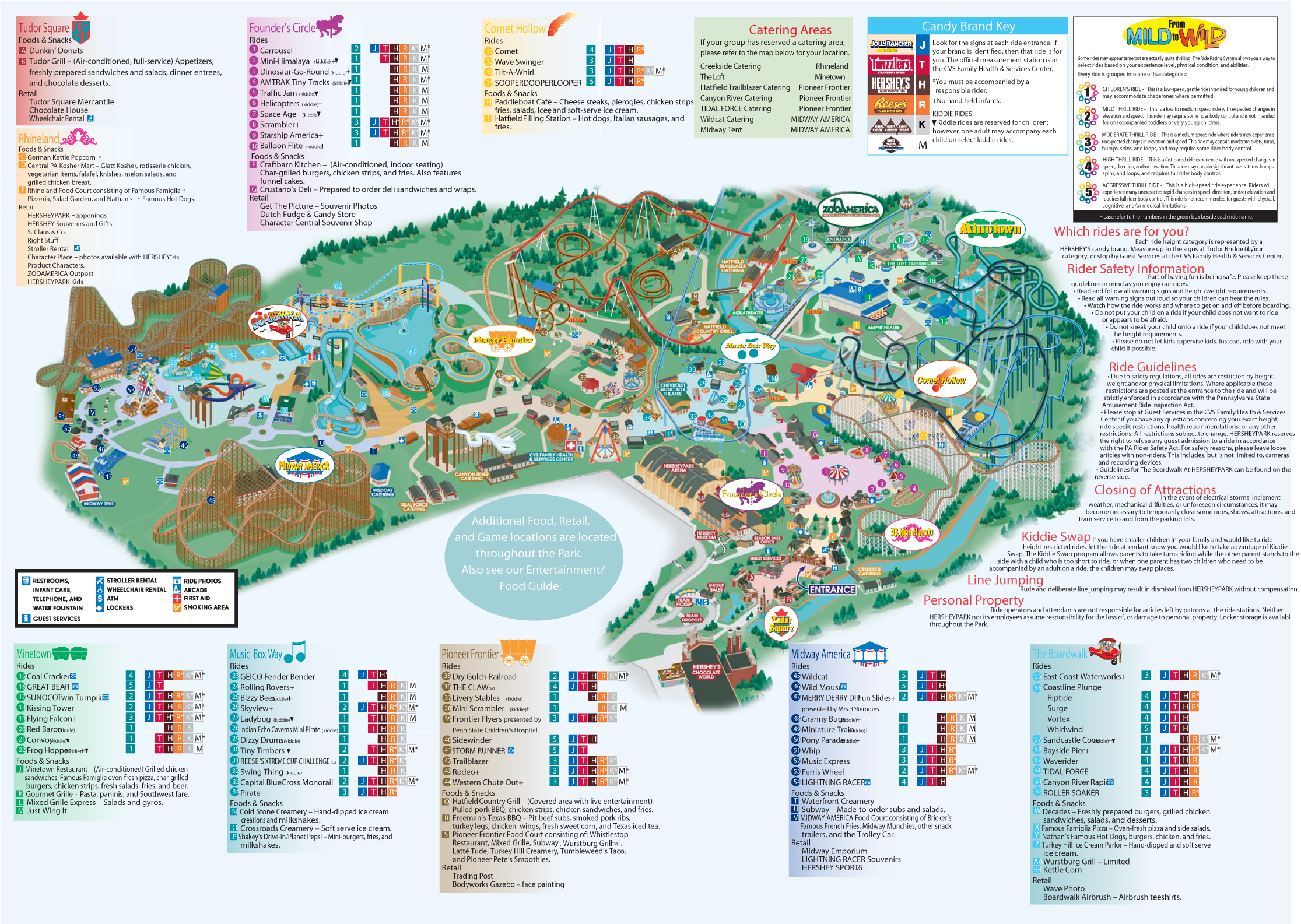 Hershey park official map see map details from hersheypa com created 5