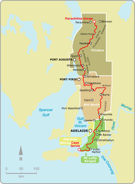 Heysen Trail Fire Ban Map
