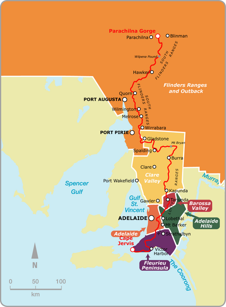 Heysen Trail Map