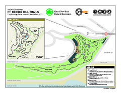 Highbridge Park mountain bike trail map