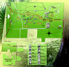 Highlands Hammock State Park Map