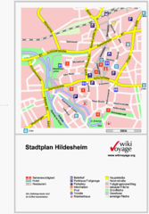 Hildesheim Center Tourist Map