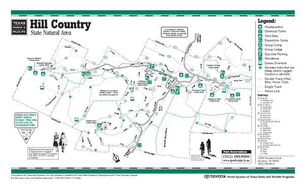 Hill Country State Natural Area Trail Map
