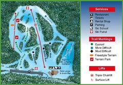 Hilltop Ski Area Ski Trail Map
