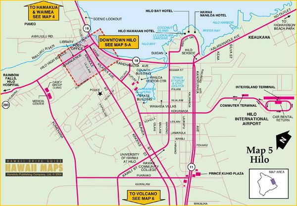Hilo Hawii Tourist Map - Hilo Hawaii • mappery