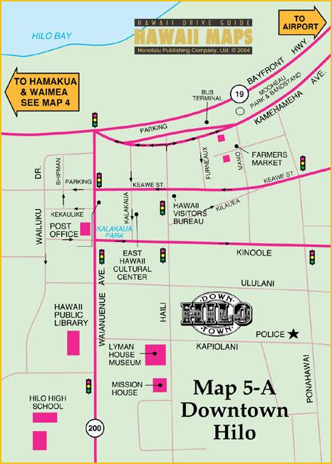 Hilo Tourist Map - Hilo • mappery