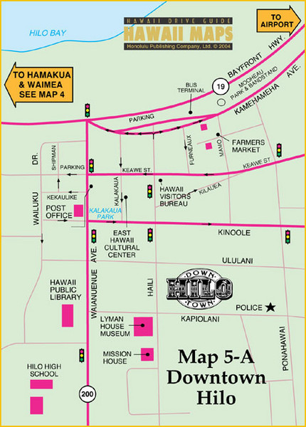 Hilo Tourist Map