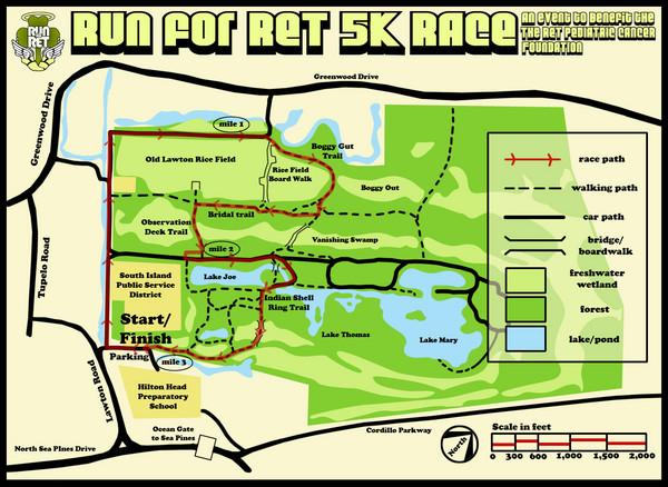 Hilton Head Run For Ret K Race Course Map Hilton Head Island - How to map out a run