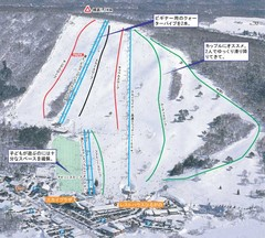Hirugano Kōgen Ski Trail Map