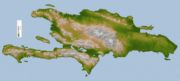 Hispaniola Topo Map