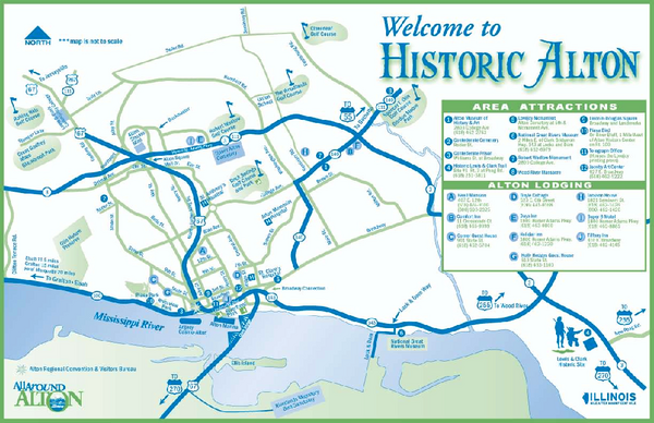 Historic Attractions in Alton Illinois Map   Alton IL • mappery