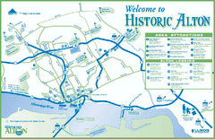 Historic Attractions in Alton, Illinois Map
