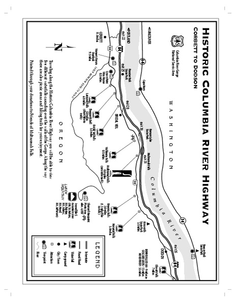 Historic Columbia River Highway Map